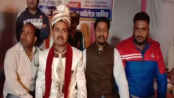 Groom halts his wedding procession, joins protests!