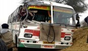 12 feared killed in bus-truck collision in Madhya Pradesh of India