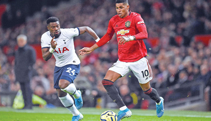 Rashford inflicts first Spurs defeat on Mourinho