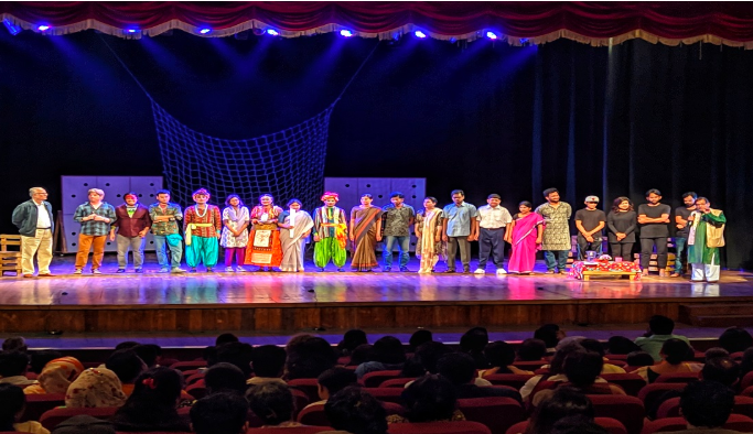 Mangaldeep Foundation's new play contains enthralling performances by visually impaired performers