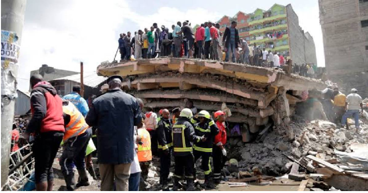 6-story building collapses in Nairobi; some feared trapped
