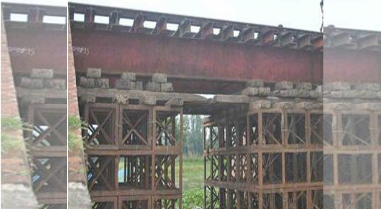 Two British-era rail bridges being used with great risk