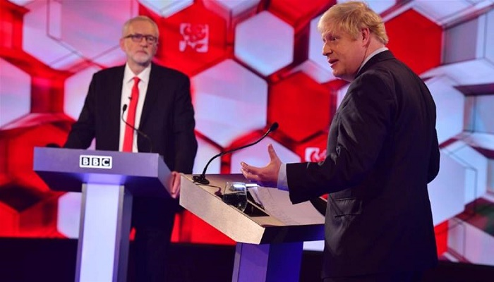 General election 2019: Boris Johnson and Jeremy Corbyn clash over Brexit