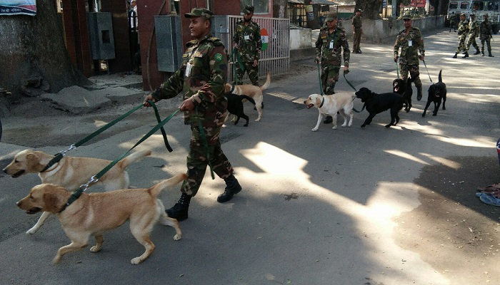 Bangladesh Army receives 10 trained dogs from Indian Army as gifts