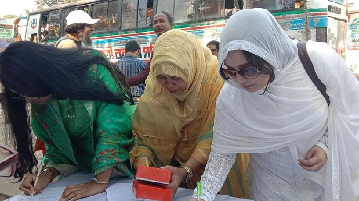 Mass signature campaign held in city