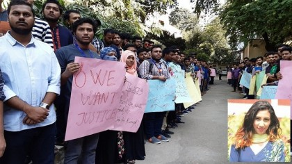 Stamford University students stage demo demanding justice for Rumpa