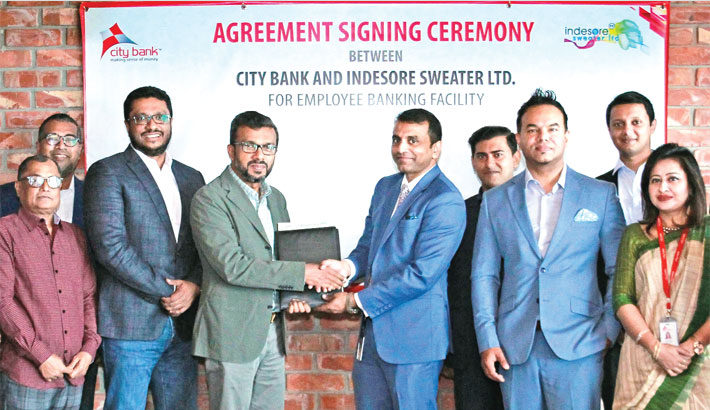 City Bank signs deal with Indesore Sweater