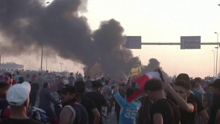 Iraq protests: Gunmen kill at least 20 people in Baghdad