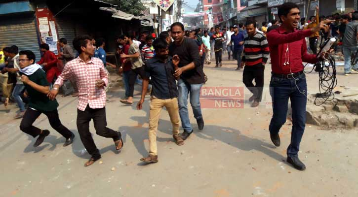 70 hurt as AL, BNP men lock in clash in Sirajganj