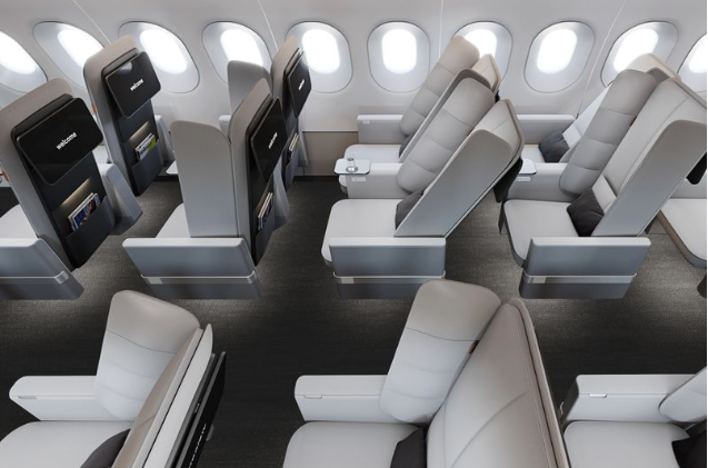 Game-changing economy seat has padded wings you can lean on for sleeping
