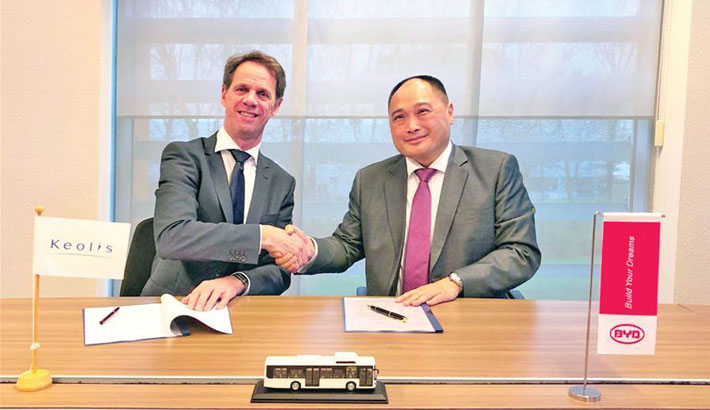 China's BYD lands large electric bus order in Netherlands