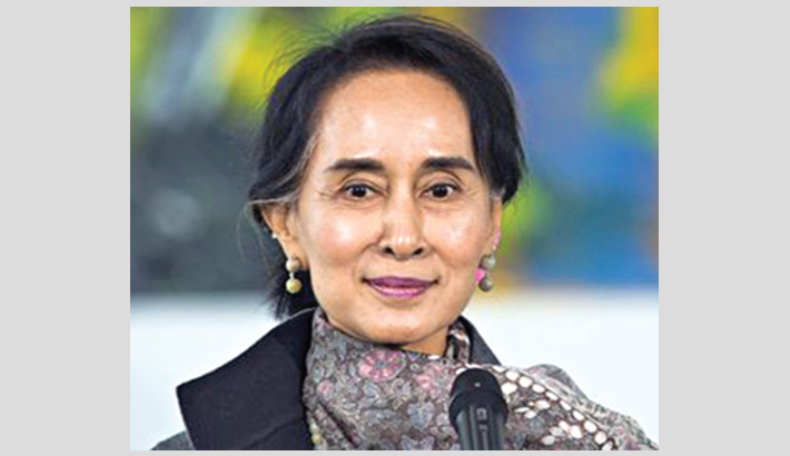 Suu Kyi departs for genocide hearings