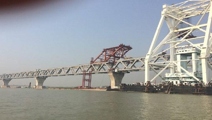 18th span of Padma Bridge installed