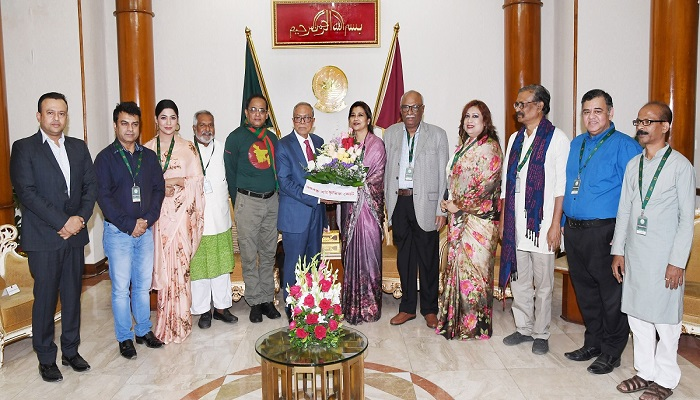 Work to raise awareness against injustice: President to artistes