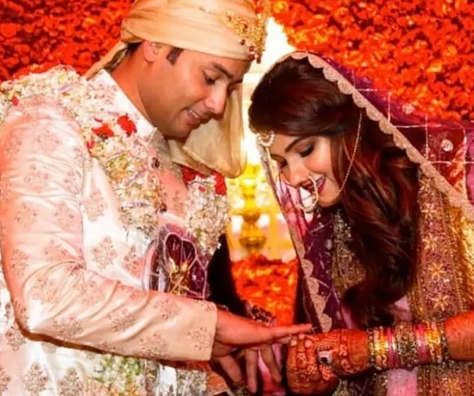 Sania Mirza's sister Anam gets married to Mohammad Azharuddin's son Asad