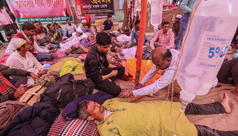 More jute workers fall sick in 4th day of hunger strike