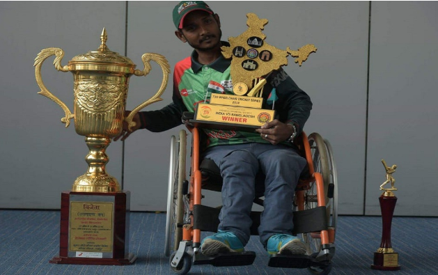 Mohasin- a cricket crusader on wheelchair