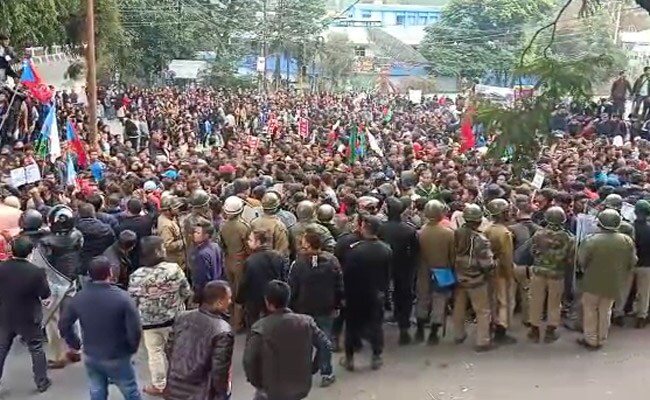 Cops use tear gas, lathi-charge at citizenship act protest in Shillong