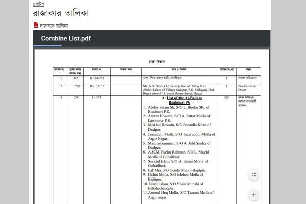 List of 10,789 Razakars
