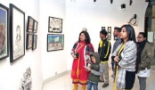 Cartoon exhibition 'People of Many colours' underway at AFD