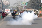 Crude bomb blasts in front of BNP central office