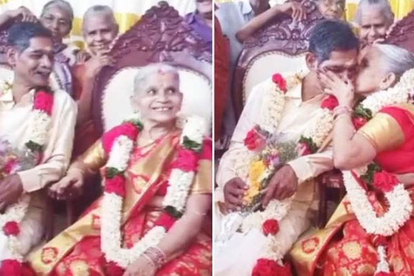 Couple fall in love at old age home, get married