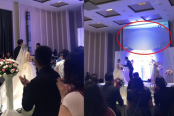 Groom plays video of his bride in bed with her brother-in-law at their wedding in front of shocked guests'
