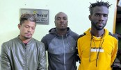 Two Ghanaian footballers held with yaba in Chattogram