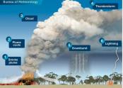 Australia's massive bushfires generating thunderstorms