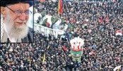 Huge crowds in Iran mourn general killed by US drone