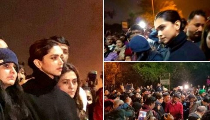 Deepika Padukone joins protest at JNU