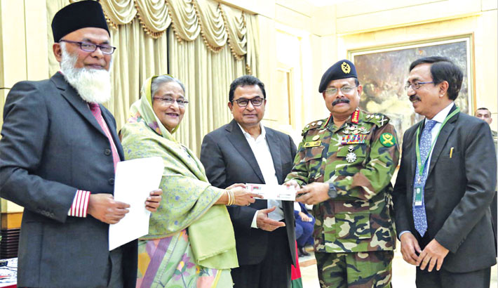 Tbl Gives Tk 5cr To Bangabandhu Memorial Trust 452534