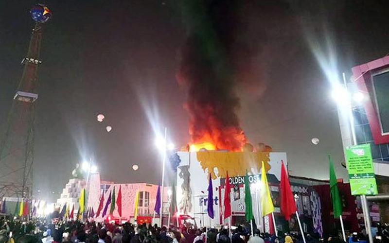 Fire at Dhaka International Trade Fair