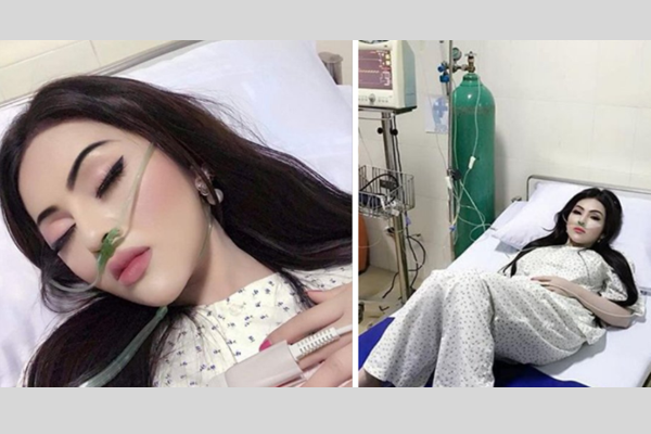 Influencer girl in hospital wears heavy makeup after BF says he'll visit her