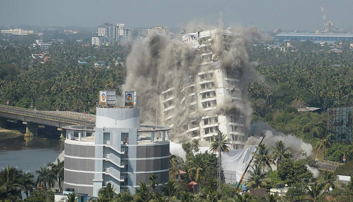 India blows up luxury high-rises over environmental violations