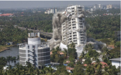 Kochi luxury flats come crashing down in seconds(watch)