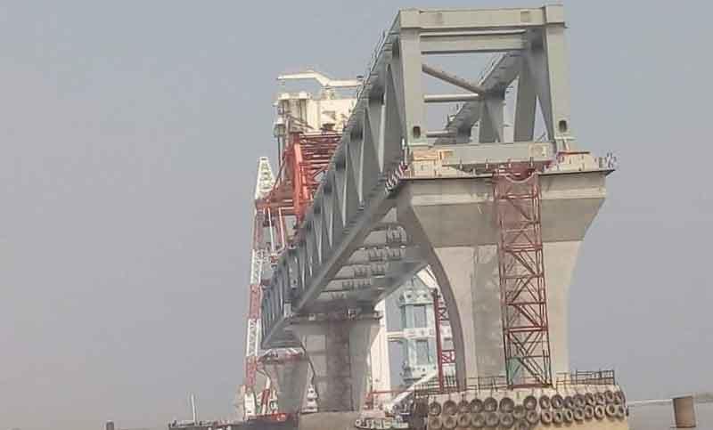 3.15km of Padma Bridge visible as 21st span installed
