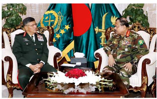 Nepal army chief meets with BD army chief