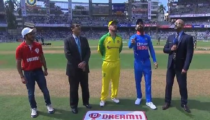 Australia win toss and bowl in first India ODI