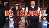 Kareena returns from London with Saif, Taimur and Rs 13 lakh bag