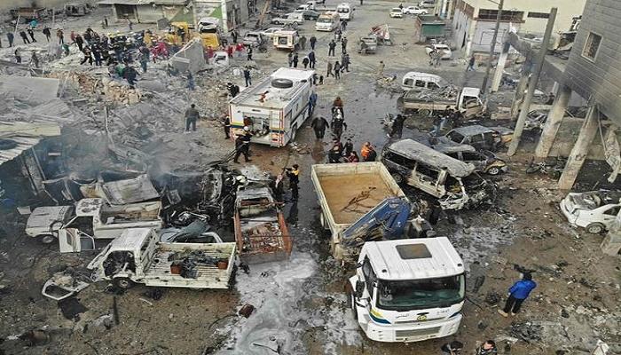 Syria war: Air strikes kill 18 in Idlib city despite truce