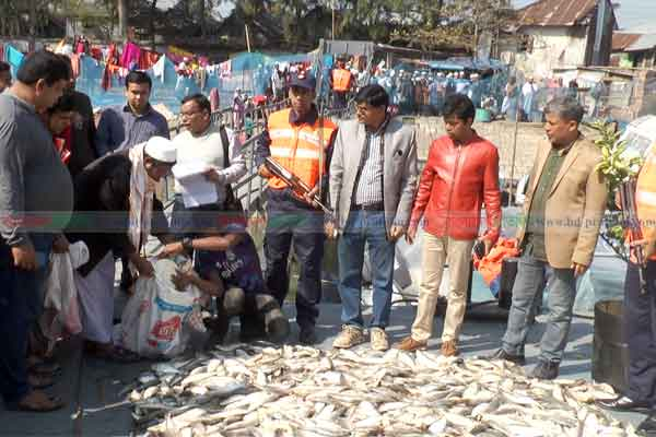 50 maunds of jatka seized from trawler in Barishal