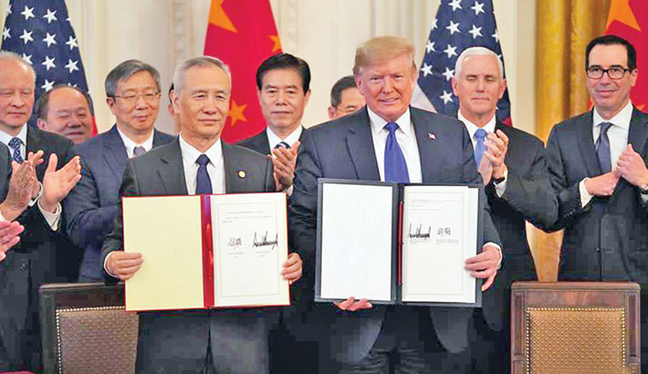 China, US sign phase-one trade deal