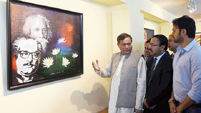 Painting exhibition on Bangabandhu ends at Kolkata