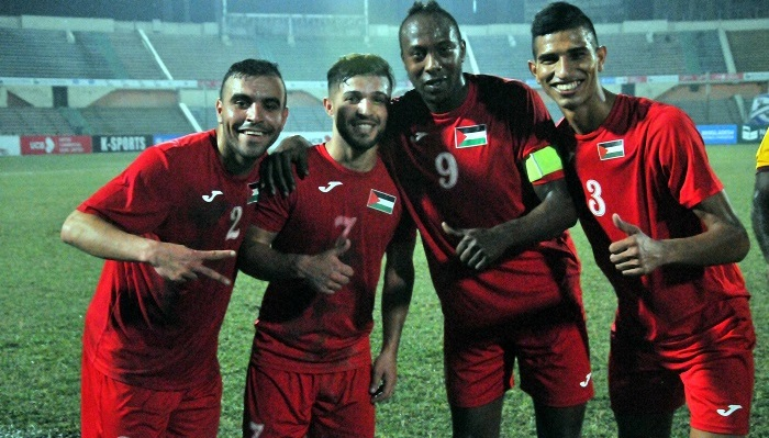 Palestine reach semis beating Sri Lanka 2-0
