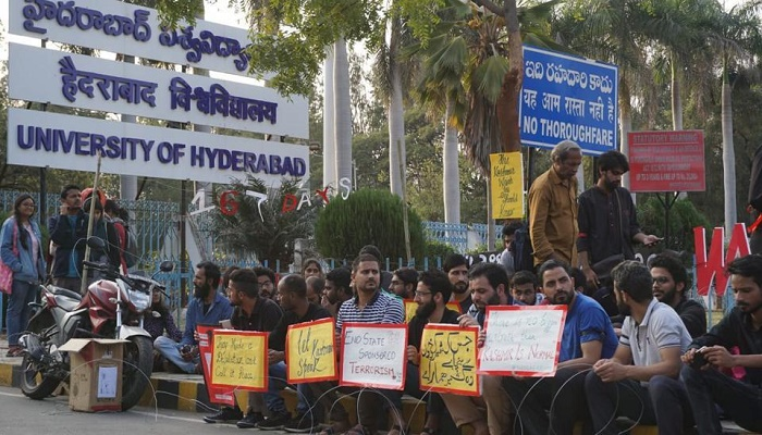 Kashmiri students of Hyderabad University protest clampdown in valley