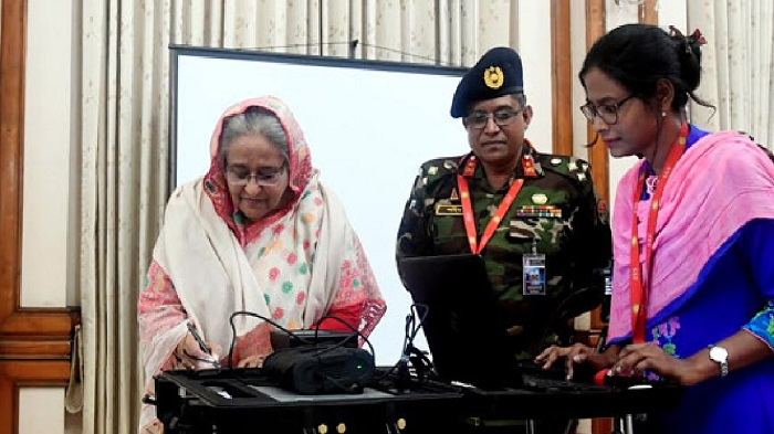 PM's photographs taken for e-passport