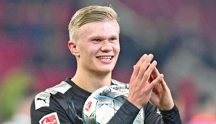 Haaland bags hat-trick on debut