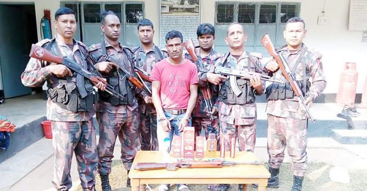 Indian national held with arms in Moulivbazar