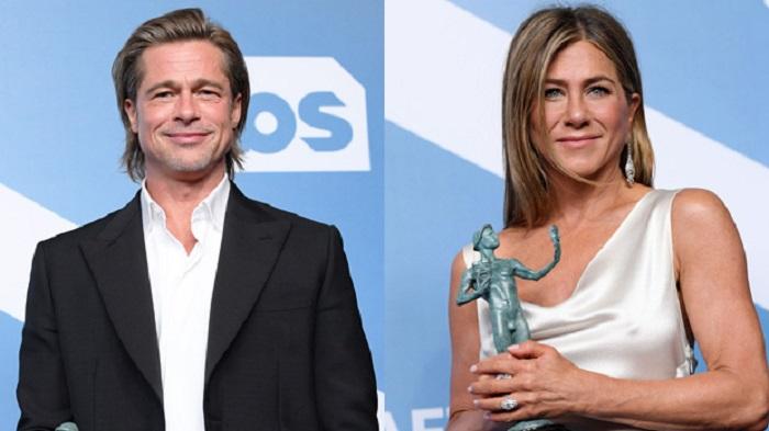 Brad Pitt, Jennifer Aniston win at SAG Awards
